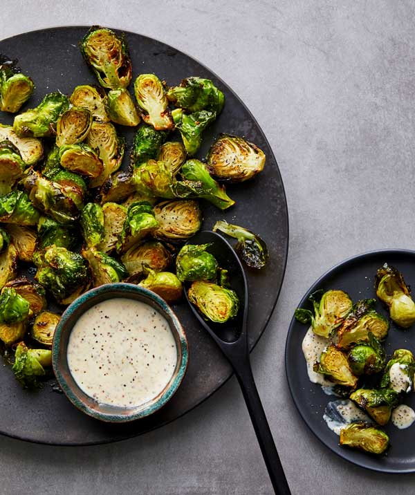 Air Fryer Brussel Sprouts and Broccoli