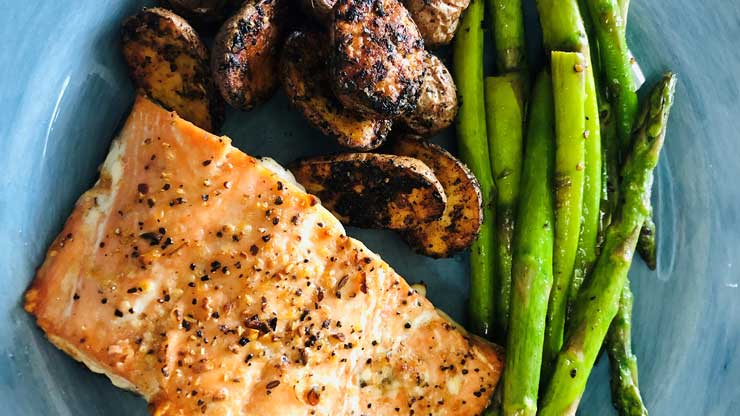 Air Fryer Salmon with Asparagus Recipe